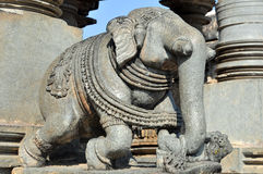 Stone elephant Royalty Free Stock Image