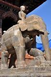 Stone Elephant At Patan Durbar Square Stock Photos