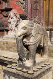 Stone Elephant at Changu Narayan Temple, Nepal Stock Photos