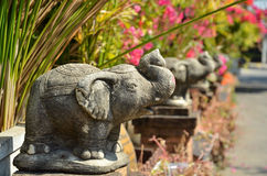 Stone elephant Royalty Free Stock Images