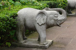 Stone elephant sculpture Royalty Free Stock Photos