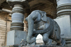Stone Elephant Statue at Beluru, Karnataka, India Royalty Free Stock Photos