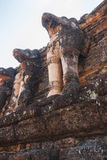 Stone Elephant Statues Decorated at Archaeological Site at Kamphaeng Phet Historical Park. Kamphaeng Phet Province, Thailand Stock Photo