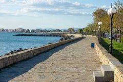 Stone embankment in Pomorie, Bulgaria Stock Photo
