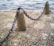 Stone embankment of the river. Stone embankment of the river Neva, Saint-Petersburg Royalty Free Stock Photography