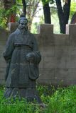 Stone emperor. Monument to the Chinese emperor of dynasty Min's Stock Photo