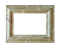 stone empty picture frame Isolated on white background Royalty Free Stock Photo