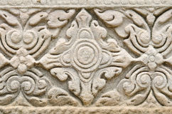 Stone Engraving In Pimai Ancient City Royalty Free Stock Images