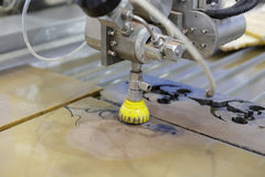 Stone engraving machine Stock Images