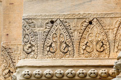Stone engraving in Pimai ancient city. Thailand Royalty Free Stock Photography