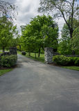 Stone Entry Fence Royalty Free Stock Photography