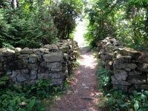 Stone entryway Stock Photo