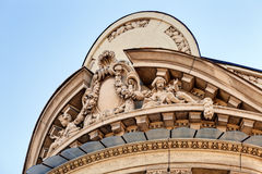 Stone facade on classical building Stock Images