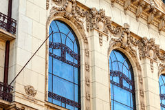 Stone facade on classical building Royalty Free Stock Image