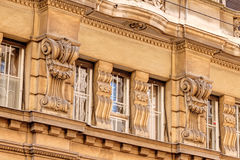 Stone facade on classical building Royalty Free Stock Photo