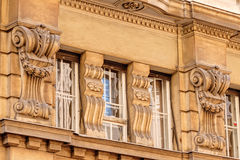 Stone facade on classical building Royalty Free Stock Images
