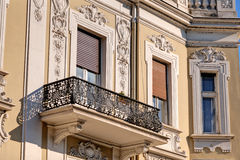 Stone facade on classical building Stock Image