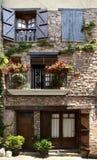 Stone facade La Probleta de Bellvei Spain royalty free stock images