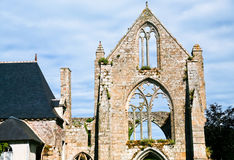 Stone facade of old abbey Stock Image