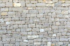 Stone facade texture. Gray stone square shape facade texture Stock Images