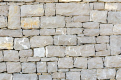 Stone facade texture. Gray stone square shape facade texture Stock Photos