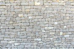 Stone facade texture. Gray stone square shape facade texture Royalty Free Stock Photos