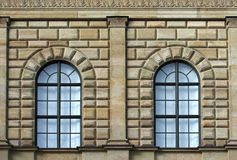 Stone facade with windows Royalty Free Stock Photos