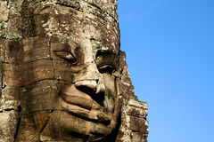 Stone Face. Angkor Wat temple near Siem Reap in Cambodia Stock Photo