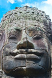 Stone face. In Bayon Temple, Angkor Area, Cambodia, Southeast Asia stock image