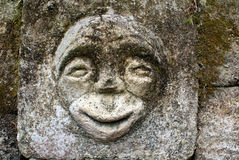 Stone with face Royalty Free Stock Images