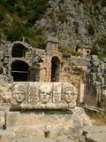 Stone face. Myra ancient town Royalty Free Stock Photos