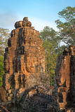 Stone face in ancient Bayon temple, Angkor in Cambodia Royalty Free Stock Photos