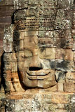 Stone face in Angkor Wat Stock Photos