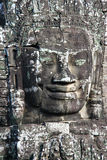 Stone face in Angkor Wat Royalty Free Stock Photography