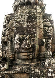 Stone Face in Bayon temple. Face in Bayon temple, Angkor, Cambodia royalty free stock photos