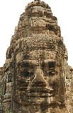 Stone Face in Bayon temple Royalty Free Stock Photography
