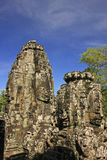 Stone face of Bayon temple, Angkor area Royalty Free Stock Photo