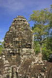 Stone face of Bayon temple, Angkor area Stock Image
