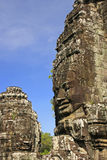 Stone face of Bayon temple, Angkor area Stock Photo