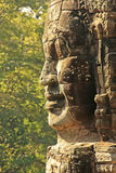 Stone face of Bayon temple, Angkor area, Siem Reap Stock Images