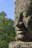 Stone face of Bayon temple, Angkor area, Siem Reap Royalty Free Stock Photo