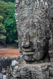 Stone Face in Bayon Temple, Angkor Wat Stock Photo