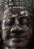 Stone face Bayon temple Cambodia. Massive stone face of Budda or Brahma at Bayon in Siem Reap Cambodia stock images