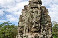 Stone face in Bayon Templex Stock Photography