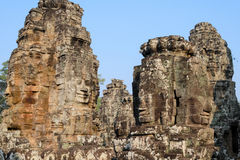 Stone face in Bayon Templex stock images