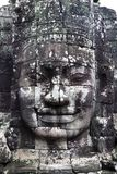 Stone face in Cambodia royalty free stock image