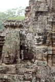 Stone Face Carvings Bayon Temple Royalty Free Stock Photography