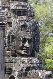 Stone Face Carvings Bayon Temple Stock Images