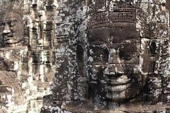 Stone face monument at Bayon temple, Cambodia Royalty Free Stock Photos