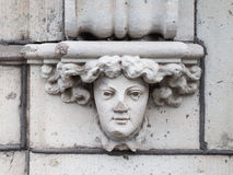 Stone Face Relief Stock Photography